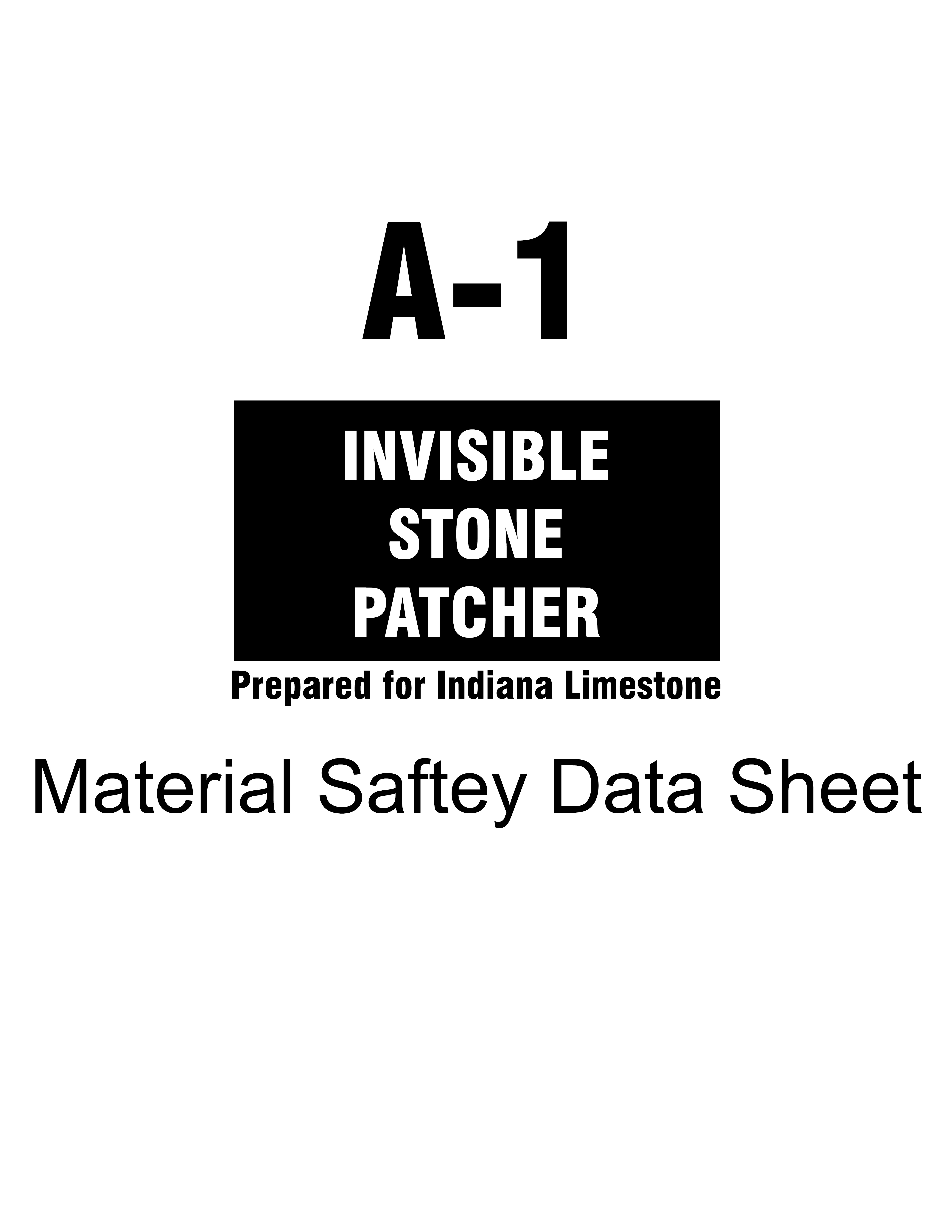 Stone Patch MSDS Cover